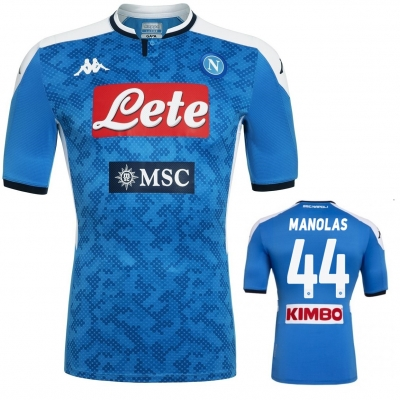 SSC NAPOLI MANOLAS AUTHENTIC MATCH HOME SHIRT 2019-20