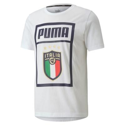 ITALIA FIGC T-SHIRT LOGO BIANCA 2019-21