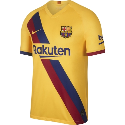 BARCELONA AWAY STADIUM YELLOW SHIRT 2019-20