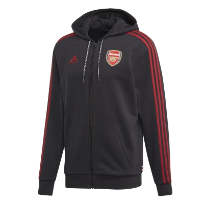 ARSENAL FULL ZIP HOODY BLACK SWEAT 2019-20