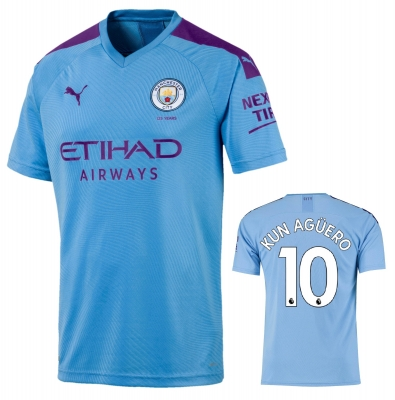 MANCHESTER CITY AGUERO JUNIOR HOME SHIRT 2019-20