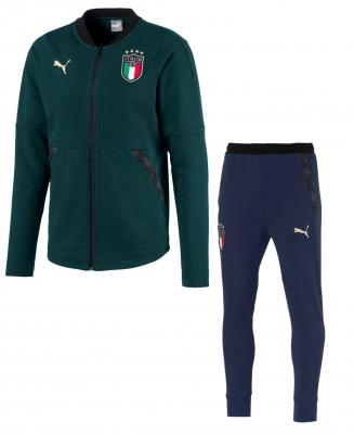 ITALIA FIGC SWEAT GREEN TRACKSUIT 2019-20