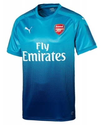 ARSENAL AWAY BLUE  SHIRT 2017-18