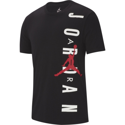 JORDAN VERTICAL BLACK T-SHIRT