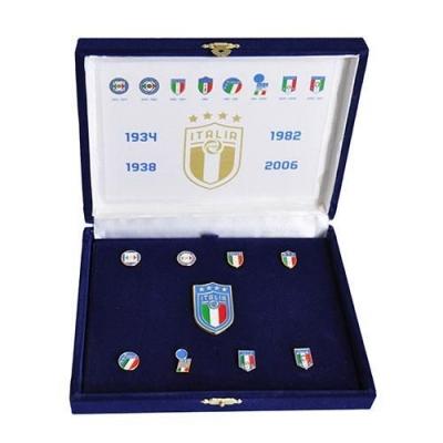 ITALIA FIGC COFANETTO SPILLE STORICHE