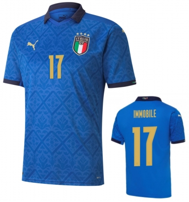ITALIA FIGC IMMOBILE JUNIOR HOME SHIRT 2020-21