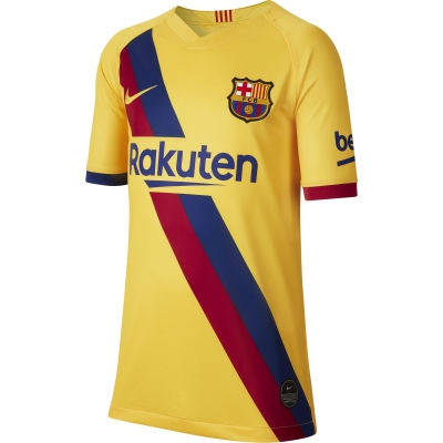 BARCELONA AWAY JUNIOR YELLOW SHIRT 2019-20