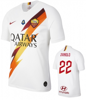 AS ROMA ZANIOLO MVP AWAY WHITE SHIRT 2019-20