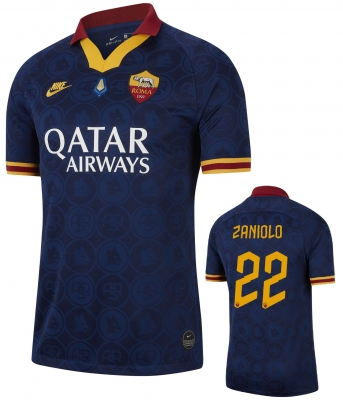 AS ROMA ZANIOLO MVP 3RD NAVY SHIRT 2019-20
