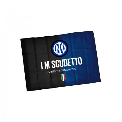 FC INTER BANDIERA I M SCUDETTO cm100X140