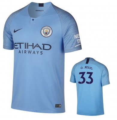 MANCHESTER CITY GABRIEL JESUS HOME SHIRT 2018-19