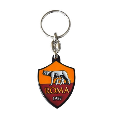 AS ROMA PORTACHIAVI LOGO IN METALLO