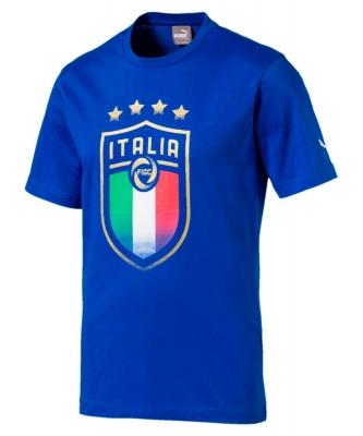 ITALIA FIGC BADGE ROYAL T-SHIRT 2017-19