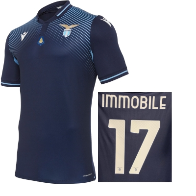 SS LAZIO IMMOBILE MVP AUTHENTIC MATCH 3RD NAVY SHIRT 2020-21
