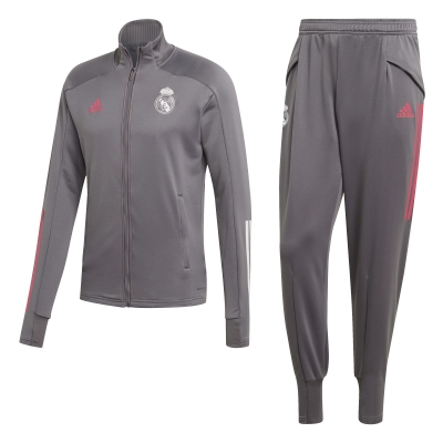 REAL MADRID POLY GREY TRACKSUIT 2020-21