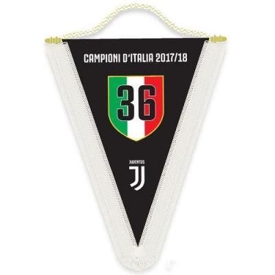JUVENTUS GAGLIARDETTO CAMPIONI D'ITALIA 2017-18
