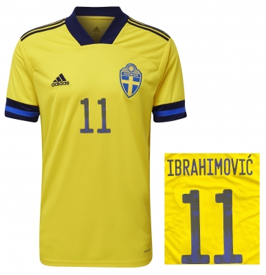 SWEDEN IBRAHIMOVIC JUNIOR HOME SHIRT 2020-21