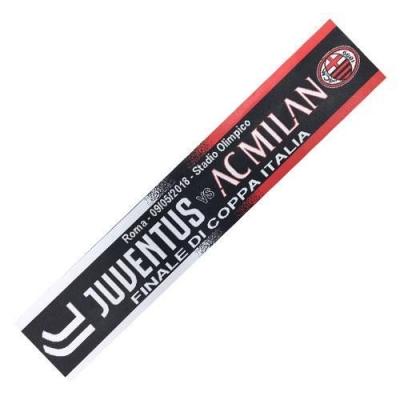 JUVENTUS-MILAN SCIARPA in ACRILICO FINALE TIM CUP 09-05-2018