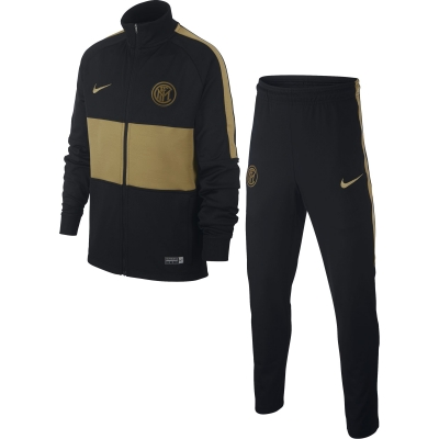 INTER JUNIOR BLACK-GOLD TRACKSUIT 2019-20