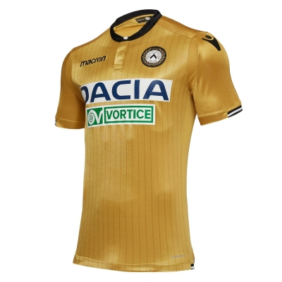 UDINESE AUTHENTIC MATCH GOLD AWAY SHIRT 2018-19
