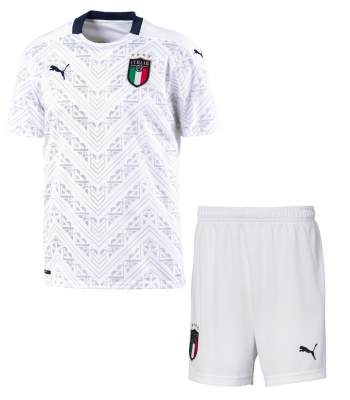 ITALIA FIGC AWAY JUNIOR WHITE KIT 2019-21