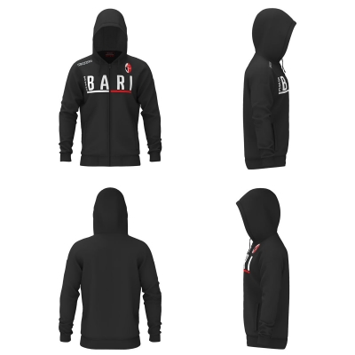 BARI HOODY FULL ZIP BLACK SWEAT 2018-19