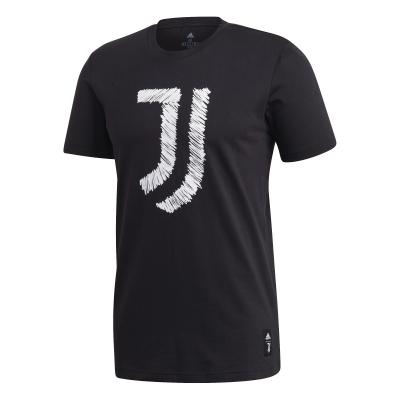 JUVENTUS BLACK LOGO T-SHIRT 2020-21