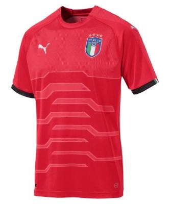 ITALIA FIGC MAGLIA PORTIERE ROSSA 2017-19