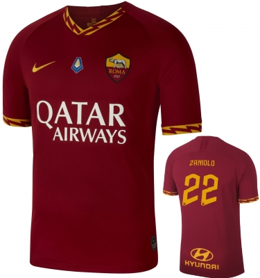 AS ROMA ZANIOLO MVP JUNIOR HOME SHIRT 2019-20