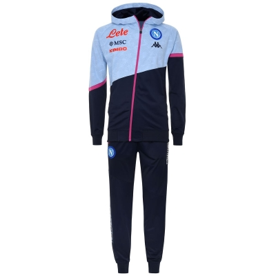 SSC NAPOLI POLY HOODED GREY TRACKSUIT 2020-21
