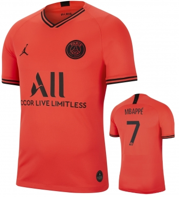 PSG MBAPPE' AWAY JORDAN FOOTBALL SHIRT 2019-20