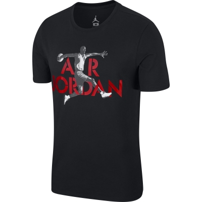JORDAN AIR BLACK T-SHIRT