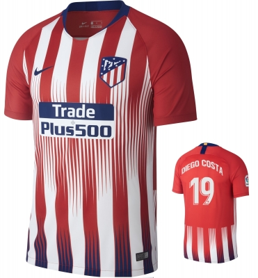 ATLETICO MADRID DIEGO COSTA HOME SHIRT 2018-19
