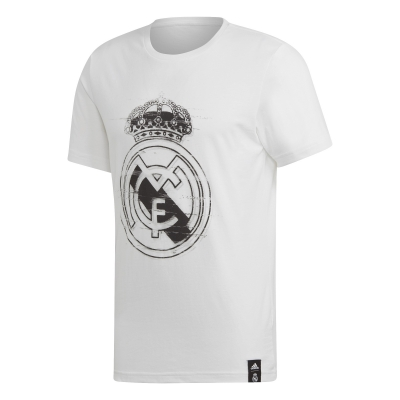 REAL MADRID T-SHIRT LOGO BIANCA 2018-19