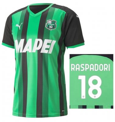 SASSUOLO MAGLIA RASPADORI HOME 2021-22